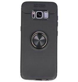 Softcase für Galaxy S8 Case mit Ringhalter Schwarz