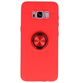 Softcase für Galaxy S8 Case mit Ringhalter Rot