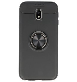 Softcase for Galaxy J3 2017 Case with Ring Holder Black