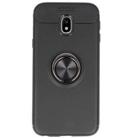 Softcase für Galaxy J3 2017 Case mit Ringhalter Schwarz