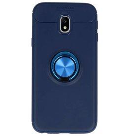 Softcase für Galaxy J3 2017 Case mit Ringhalter Navy