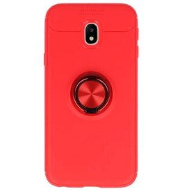Softcase for Galaxy J3 2017 Case with Ring Holder Red