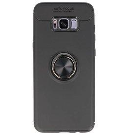 Soft Case für Galaxy S8 Plus Case mit Ringhalter Schwarz