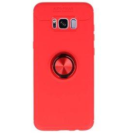 Softcase für Galaxy S8 Plus Hülle mit Ringhalter Rot