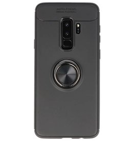 Softcase for Galaxy S9 Plus Case with Ring Holder Black