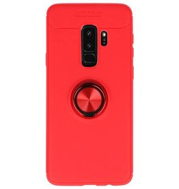 Soft case for Galaxy S9 Plus Case with Ring Holder Red