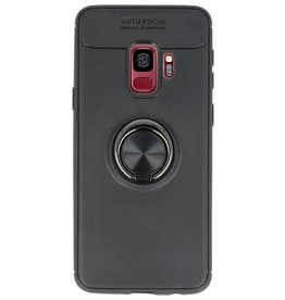 Softcase für Galaxy S9 Case mit Ringhalter Schwarz