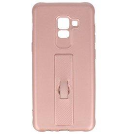 Carbon series hoesje Samsung Galaxy A8 2018 Roze