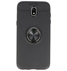 Softcase for Galaxy J5 2017 Case with Ring Holder Black