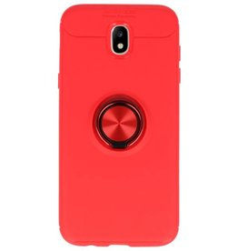 Softcase for Galaxy J5 2017 Case with Ring Holder Red