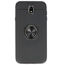 Softcase for Galaxy J7 2017 Case with Ring Holder Black
