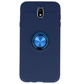 Softcase for Galaxy J7 2017 Case with Ring Holder Navy