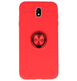 Softcase for Galaxy J7 2017 Case with Ring Holder Red