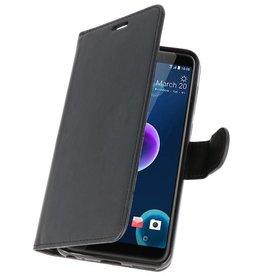 Wallet Cases Hoesje voor HTC Desire 12 Zwart