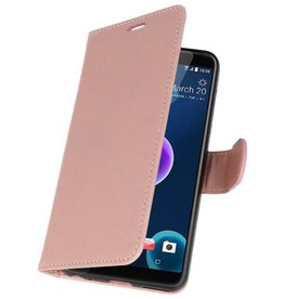 Wallet Cases Tasche für HTC Desire 12 Pink