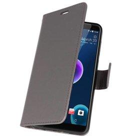 Wallet Cases Tasche für HTC Desire 12 Grau
