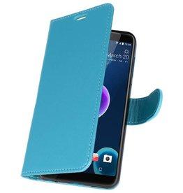 Wallet Cases Hoesje voor HTC Desire 12 Turquoise
