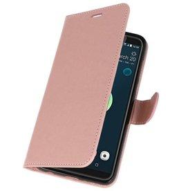 Wallet Cases Tasche für HTC Desire 12 Plus Pink