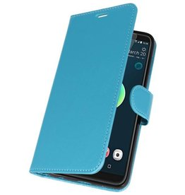 Wallet Cases Hoesje voor HTC Desire 12 Plus Turquoise