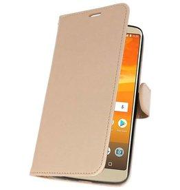 Wallet Cases Hoesje voor Moto E5 Plus Goud