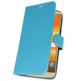 Wallet Cases Hoesje voor Moto E5 Plus Turquoise