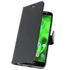 Wallet Cases Hülle für Moto G6 Plus Schwarz