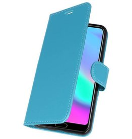 Wallet Cases Hoesje voor Honor 10 Turquoise