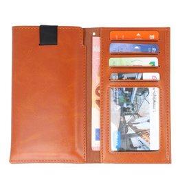 Insteek Wallet Cases voor iPhone X Bruin