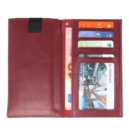 Insteek Wallet Cases voor iPhone X Bordeaux Rood