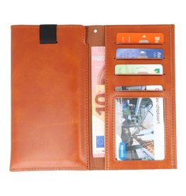 Insteek Wallet Cases voor iPhone 8 Plus Bruin