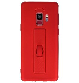 Carbon series hoesje Samsung Galaxy S9 Rood