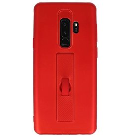 Carbon series hoesje Samsung Galaxy S9 Plus Rood