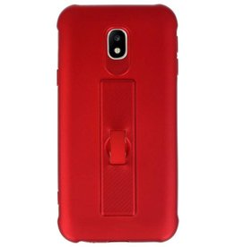 Carbon series hoesje Samsung Galaxy J3 2017 Rood