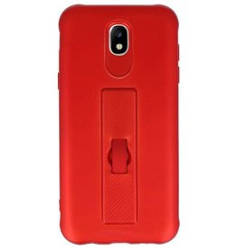 Carbon series hoesje Samsung Galaxy J5 2017 Rood
