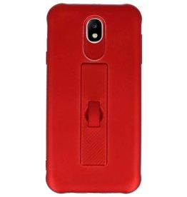 Carbon-Serie Tasche Samsung Galaxy J7 2017 Rot