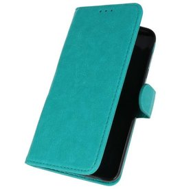 Bookstyle Wallet Cases Hoesje voor Galaxy J7 2018 Groen