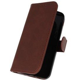 Bookstyle Wallet Cases Tasche für Galaxy J3 2018 Dunkelbraun