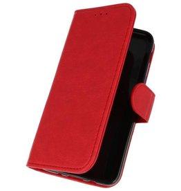 Bookstyle Wallet Cases Hoesje voor Galaxy J3 2018 Rood