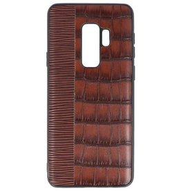 Croco Hard Case voor Samsung Galaxy S9 Plus Donker Bruin