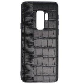 Croco Hartschalenetui für Samsung Galaxy S9 Plus Schwarz
