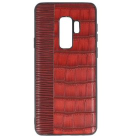 Croco Hard Case voor Samsung Galaxy S9 Plus Rood