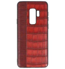 Croco Hartschalenetui für Samsung Galaxy S9 Plus Rot