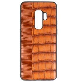 Croco Hartschalenetui für Samsung Galaxy S9 Plus Braun