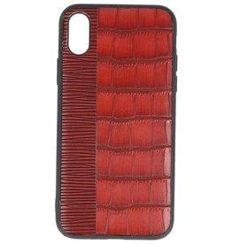 Croco Hard Case voor iPhone X Rood