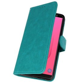 Bookstyle Wallet Cases Hoesje voor Galaxy J8 Groen