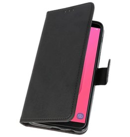 Bookstyle Wallet Cases Hoesje voor Galaxy J8 Zwart