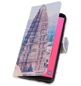 Temple 1 Bookstyle Case for Galaxy J8