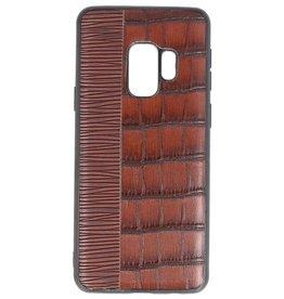 Croco Hard Case voor Samsung Galaxy S9 Donker Bruin