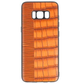 Croco Hartschalenetui für Samsung Galaxy S8 Braun