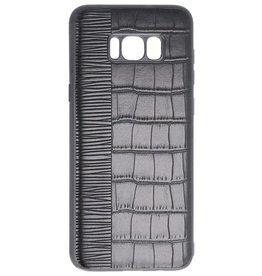 Croco Hard Case für Samsung Galaxy S8 Plus Schwarz